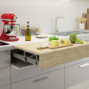 Pull-out worktops